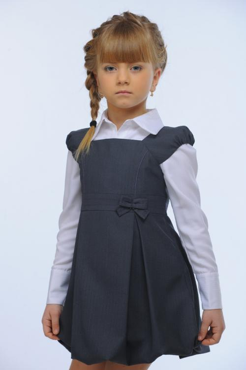 Сарафан для девочки сшить в школу