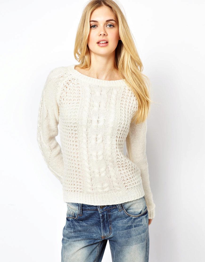 свитер из толстой пряжи реглан