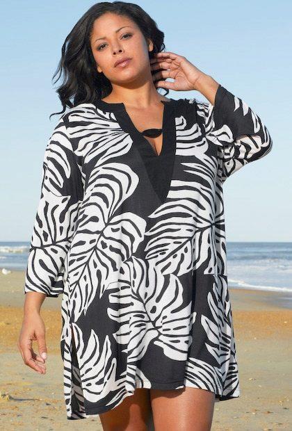 Пляжные туники для полных женщин