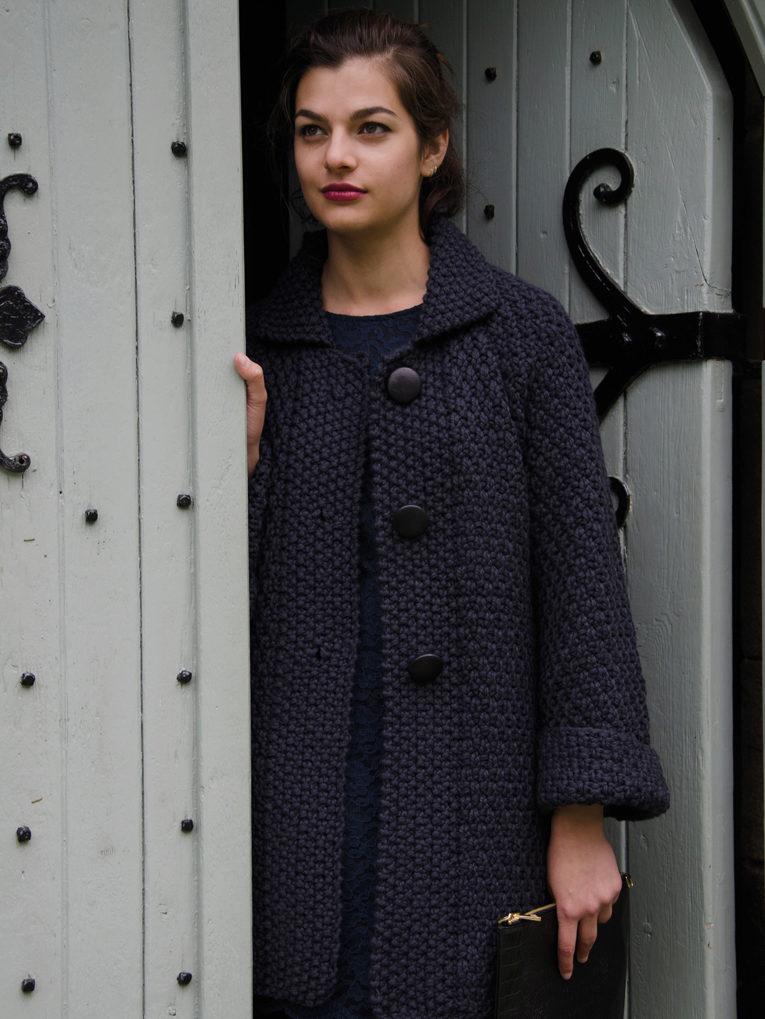 Женское вязанные пальто фото