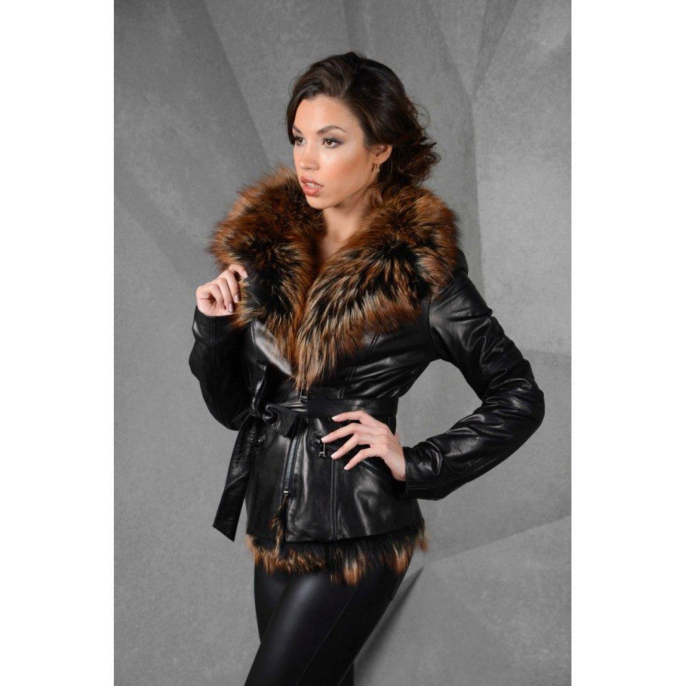 Купить Женскую Кожаную Куртку С Мехом В Интернет Магазине
