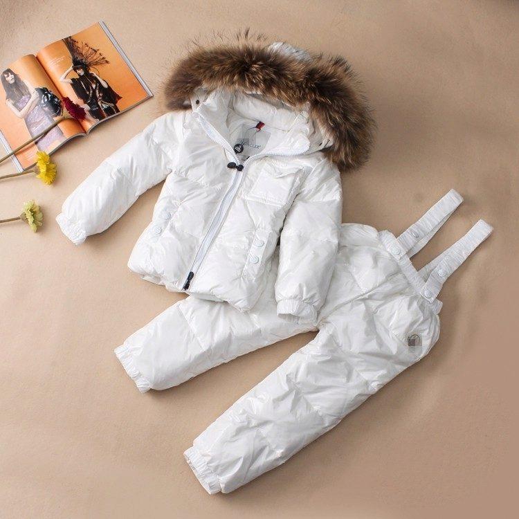 Детский комбинезон Moncler (65 фото)  зимний пуховый полукомбинезон Монклер  для девочек 1cfac03fc8489