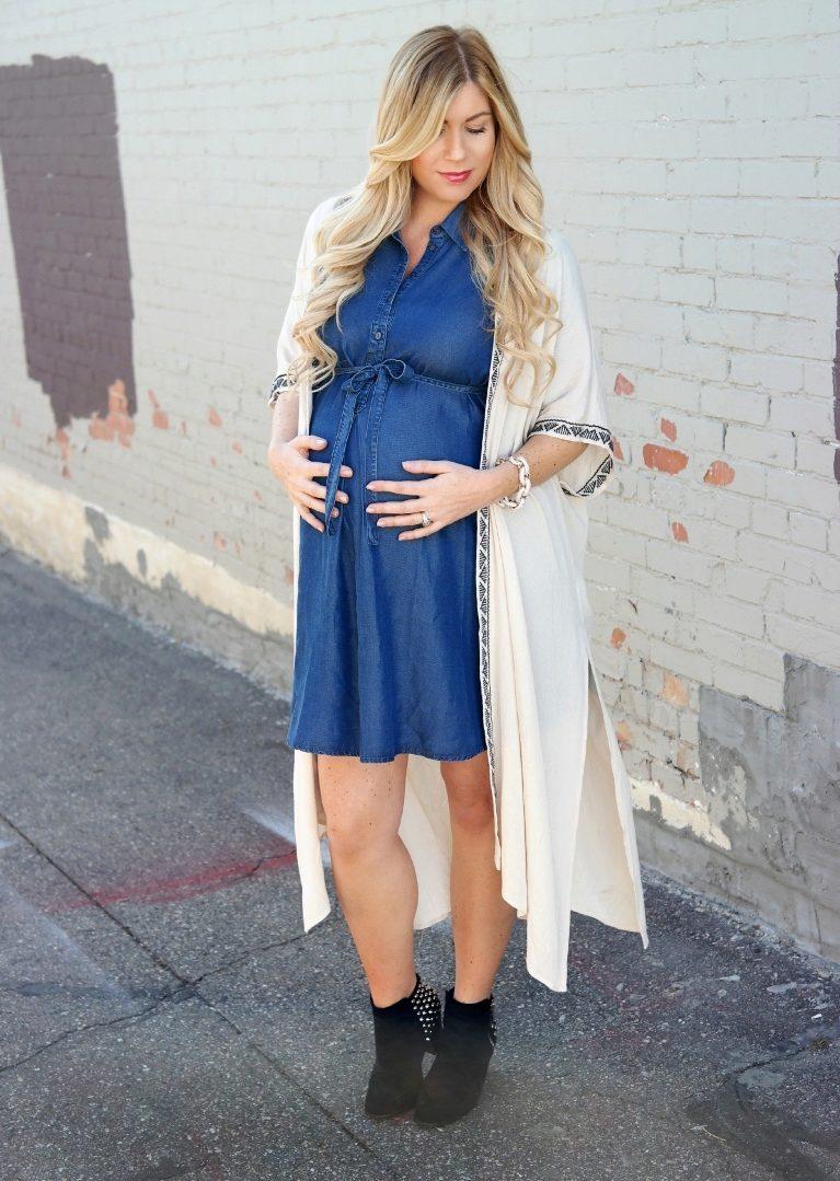 ee6afedd9b5 Отличным вариантом легкой одежды для беременной женщины является джинсовый  сарафан. Именно о нем мы и поговорим.