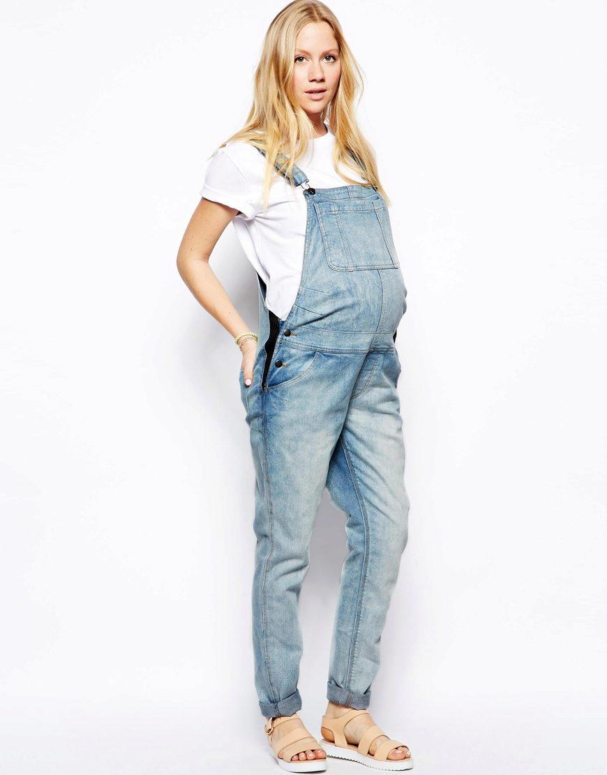 Летние джинсовые комбинезоны для беременных