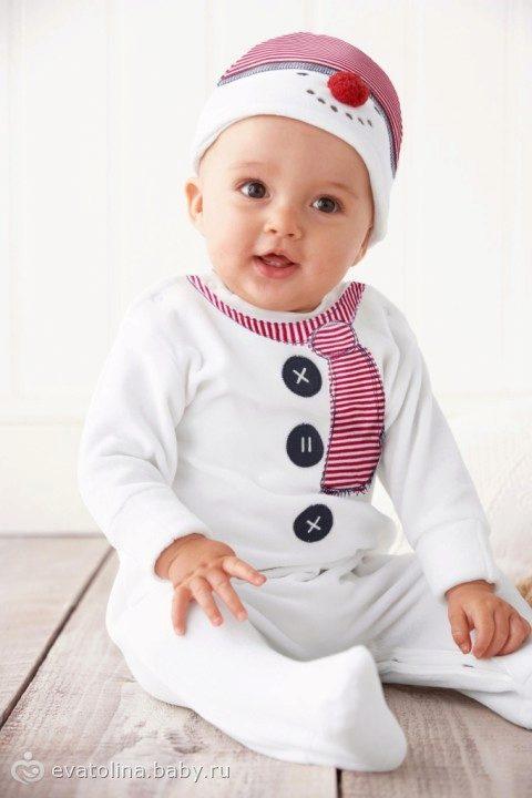 Новогодний костюм для младенца своими руками