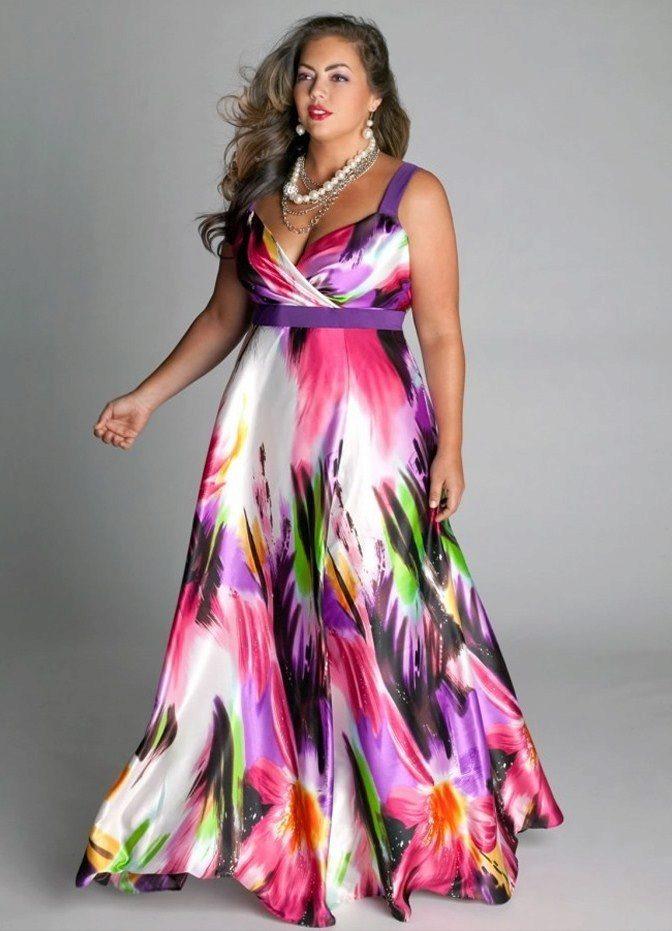 Модели вечерних платьев для полных женщин летних
