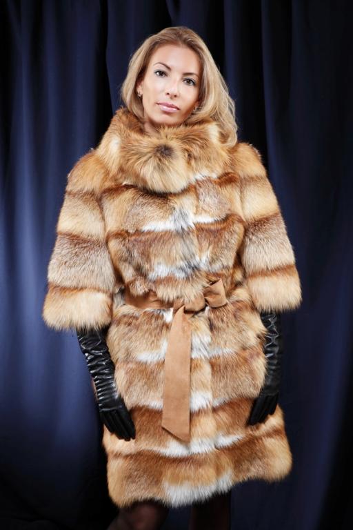С чем носить шубу из лисы