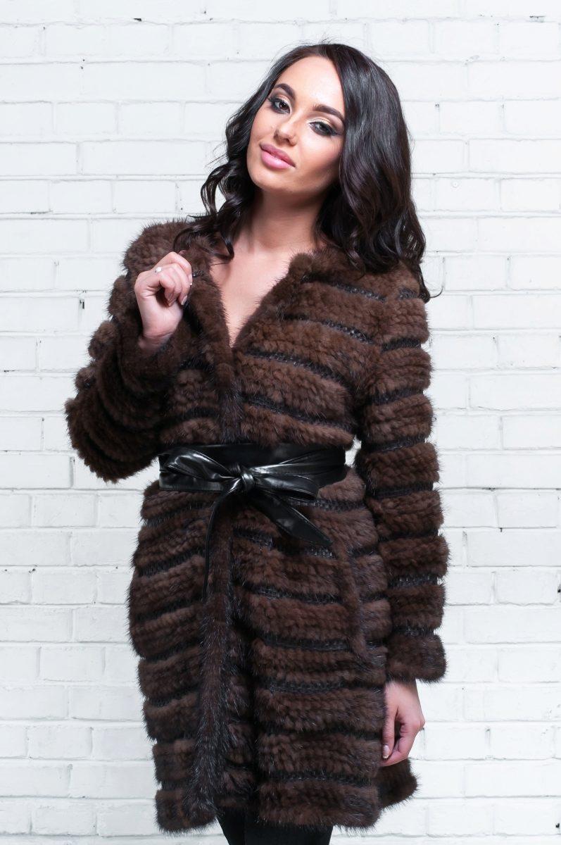 Смотреть Модные пальто из вязаной норки видео