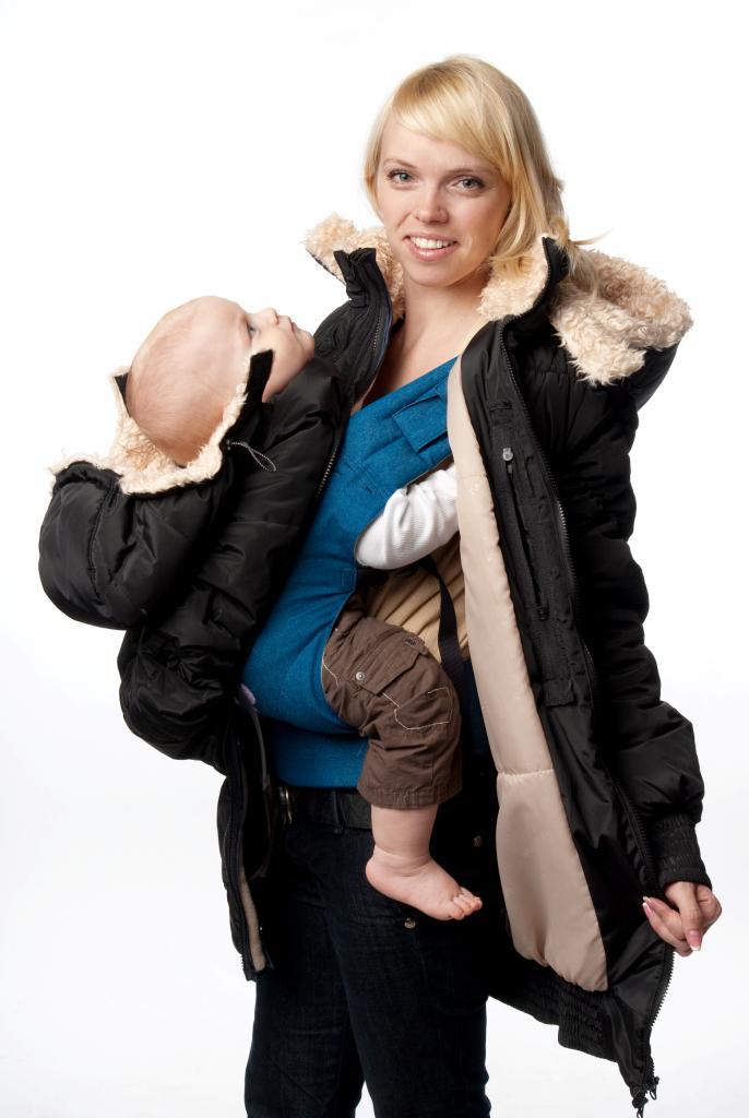 Пуховик для беременных слинг 96