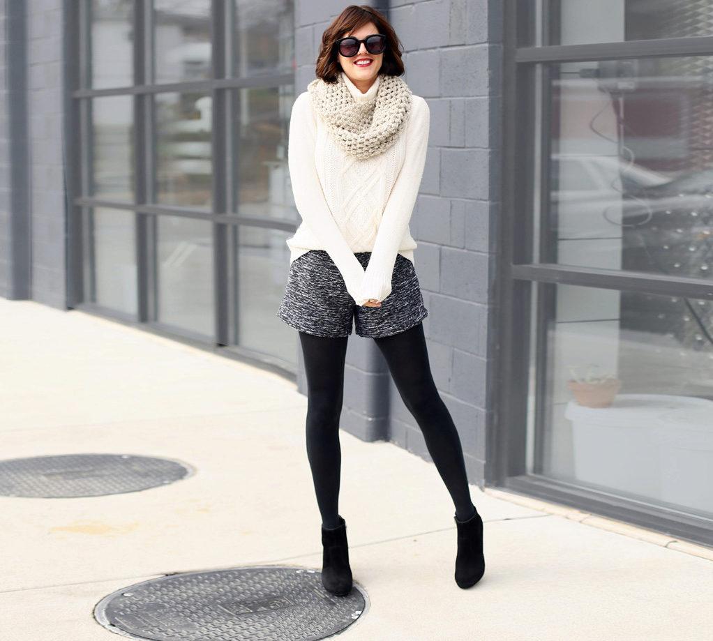 teplye-shorty-62 Теплые шорты (62 фото): зимние вязаные и шерстяные модели, утепленные, из верблюжьей шерсти, модные шорты осень-зима 2019-2020