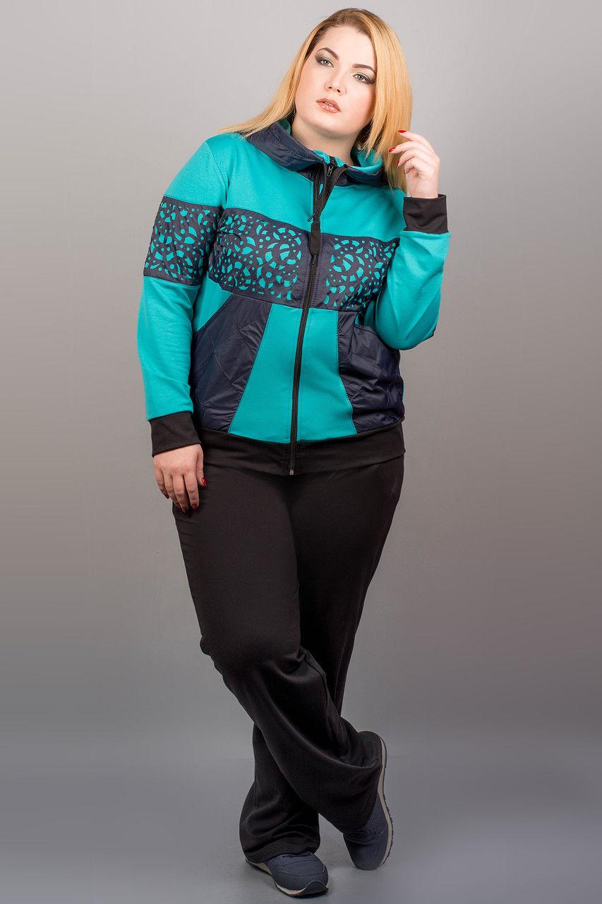 Женские спортивные костюмы больших размеров (59 фото)  модные ... cc63783a57f52