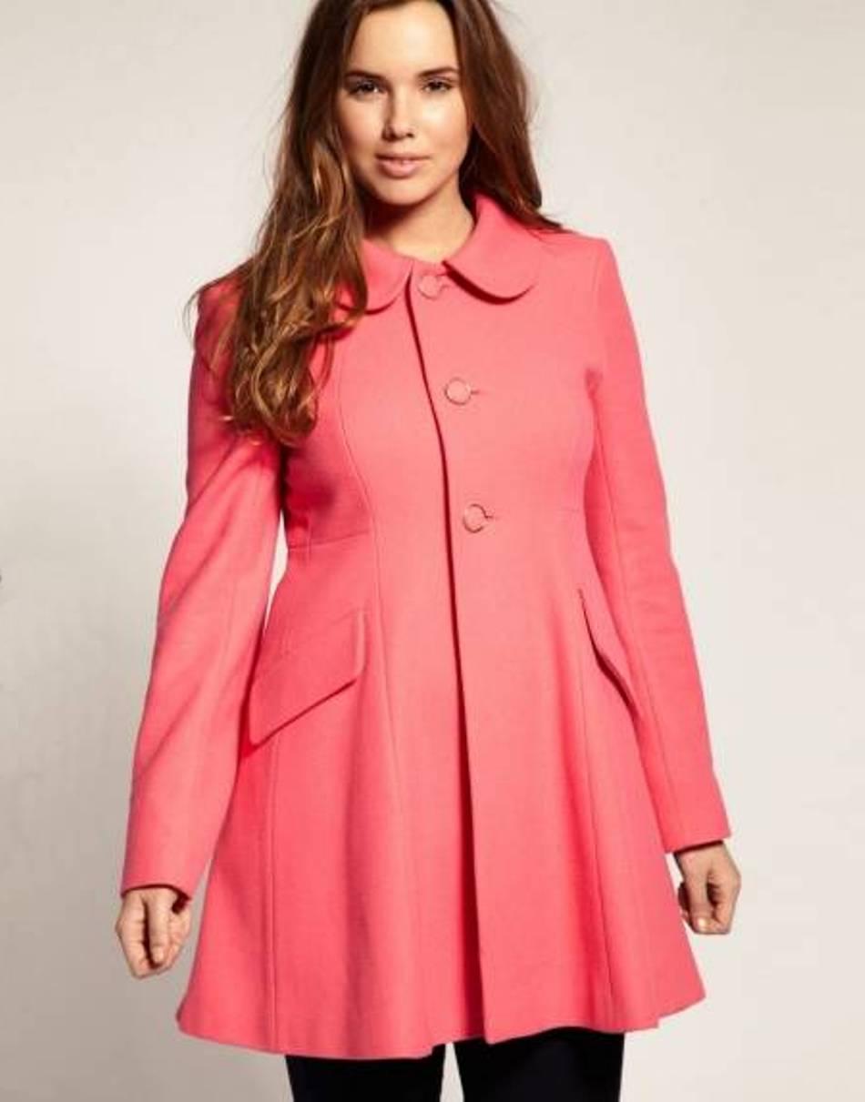 Пальто для полной девушки фото