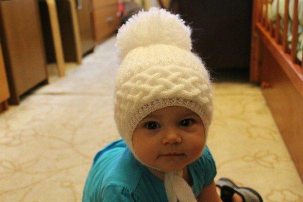 Вязание для детей до года шапочки девочка 726