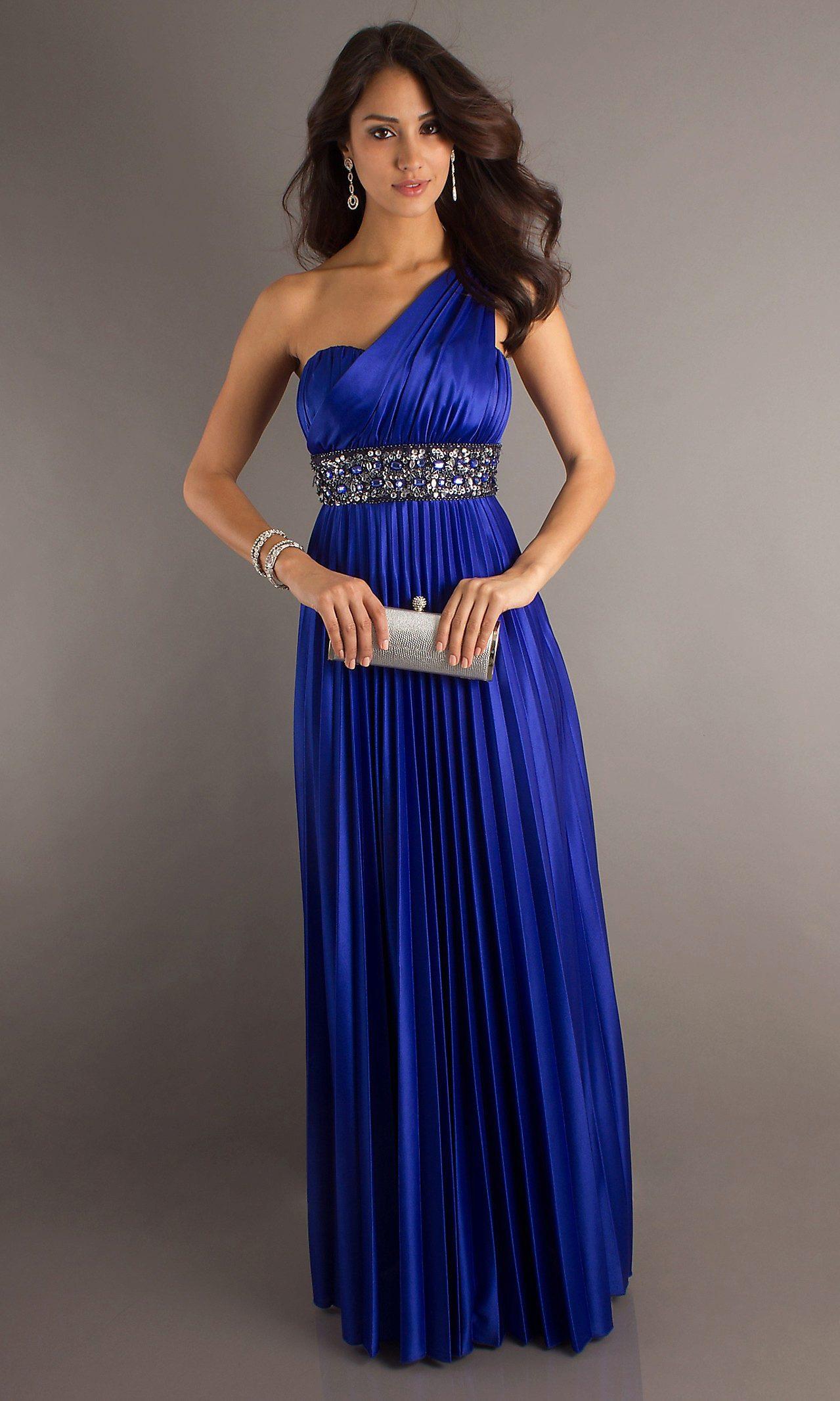 Фото синие платья в пол