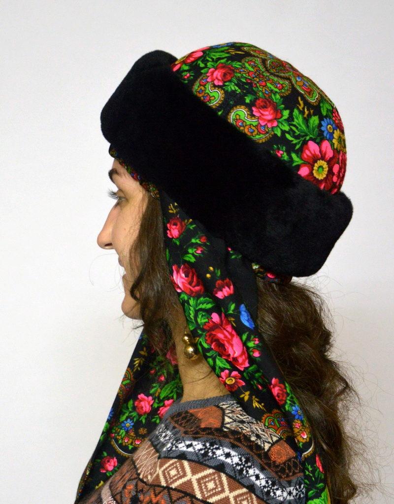 Как сделать платок на шапку 667