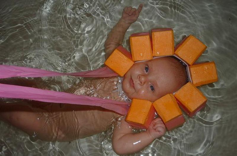 Воротник для купания своими руками