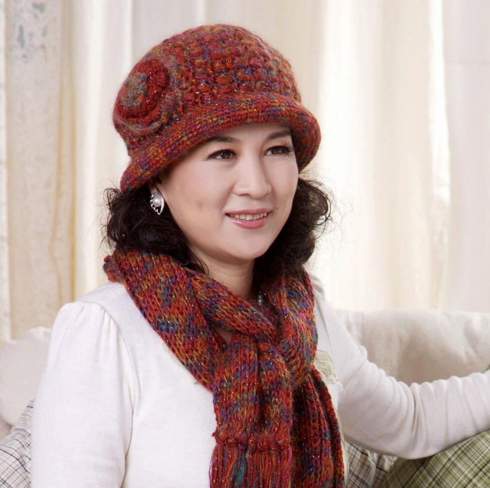Вязание берета для пожилых женщин