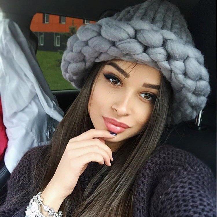 вязаные шапки купить в москве вязание шапки крупной вязкой из