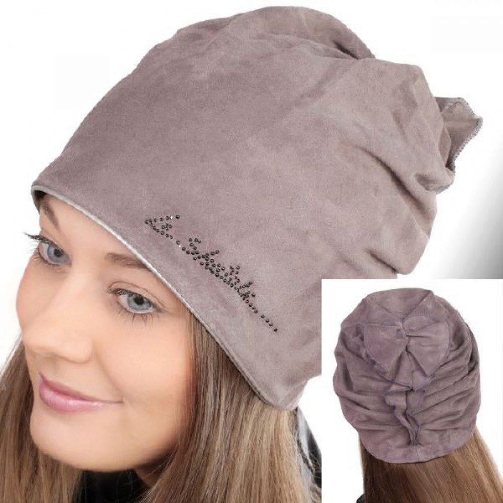 Модная трикотажная шапка своими руками 25