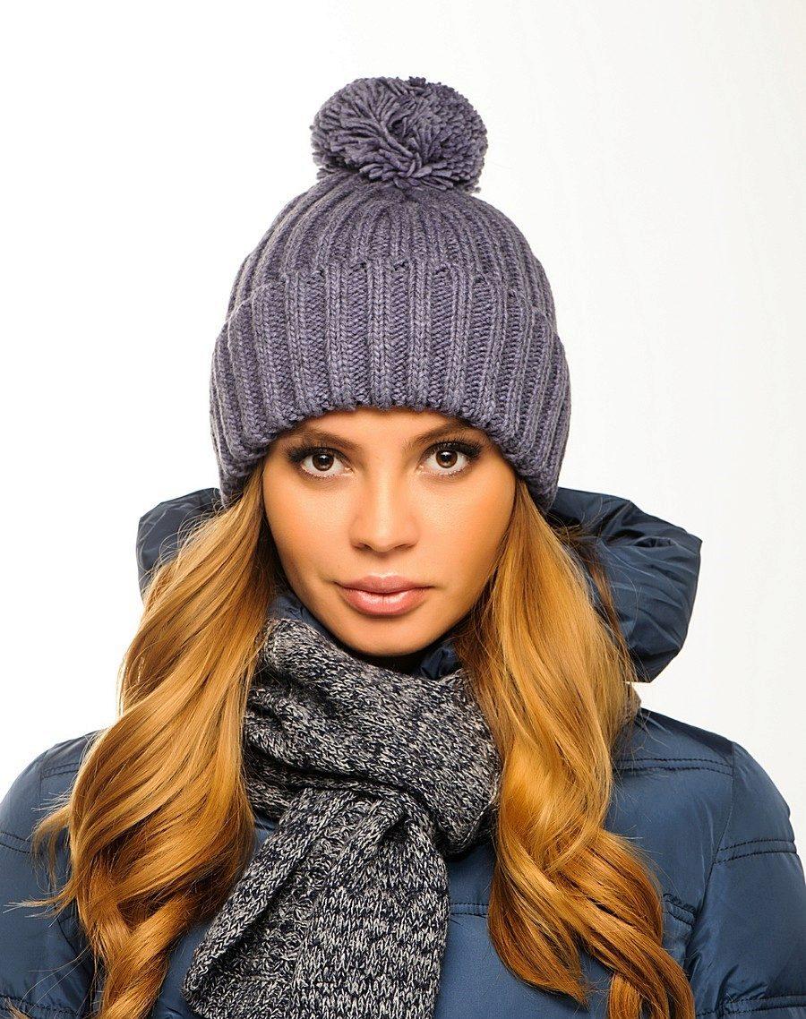 Вязание зимней шапки фото