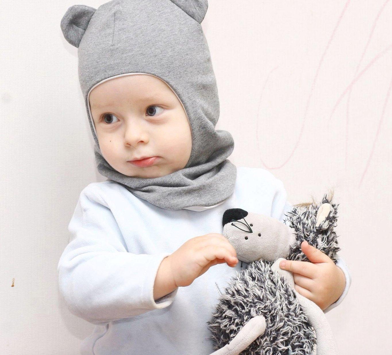 Шапки для детей с ушками фото