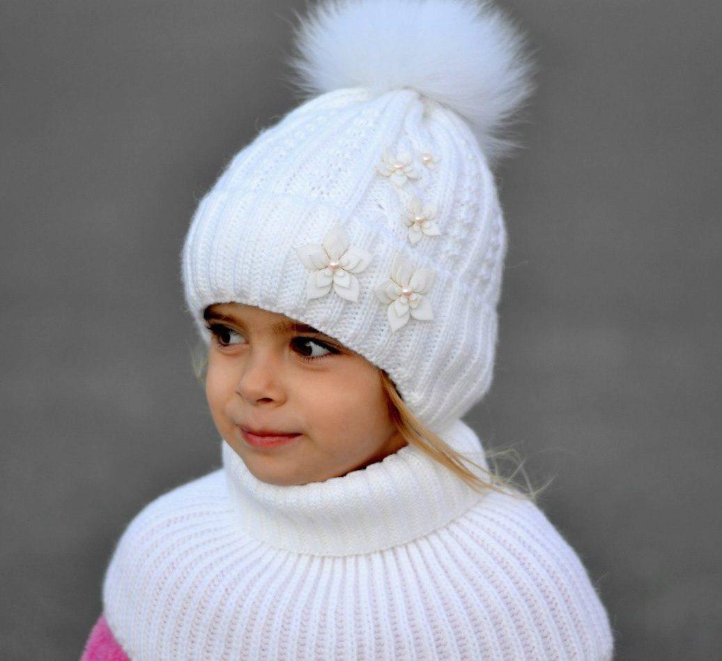 Модели шапок для девочек из натурального меха