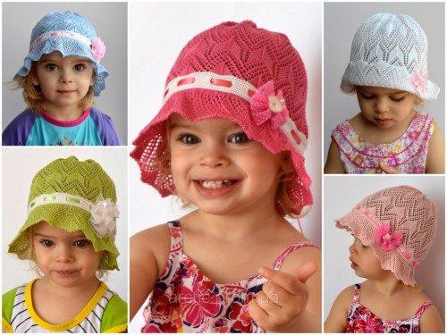 Вязание головные уборы для девочек 91