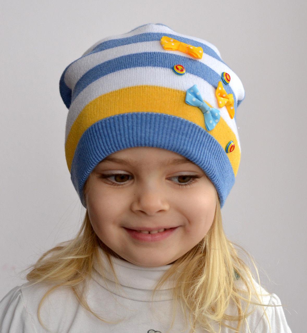 Вязание шапки для девочки осенняя 3 года