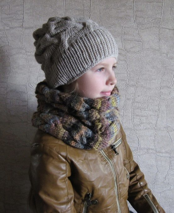 Вязание шапки для подростка и мужчины. Схема вязания 34