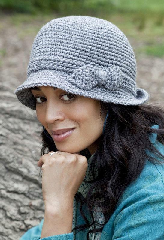 Вязанные шляпки для женщин