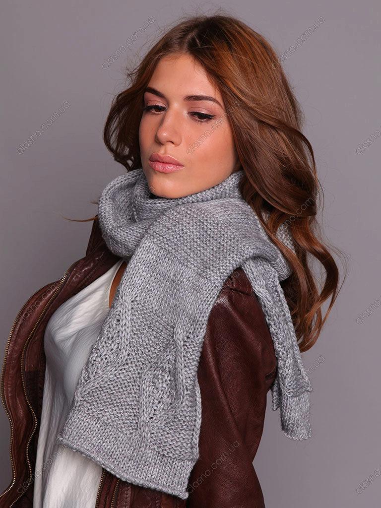 Схема вязания ажурный женский шарф