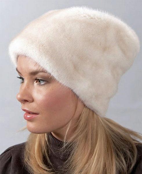 Женская норковая шапка (85 фото): модные фасоны 2018 из ...