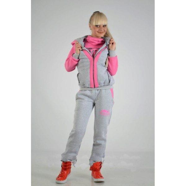 6acf6f8d Можно купить куртку с толстовкой и брюками. А можно выбрать подходящий  вариант практичного утепленного спортивного костюма тройки.