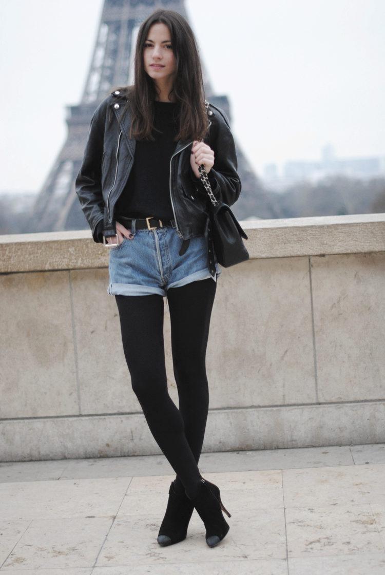 фото девушек в черных шортах порно фото худой