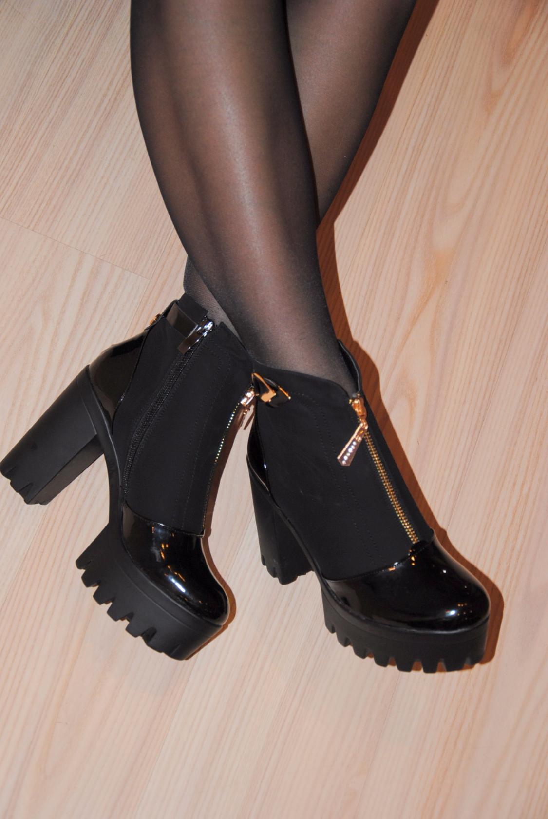 25afd56ea Ботильоны на тракторной подошве (70 фото): что такое женские ботинки ...