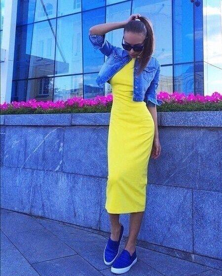 Платье в обтяжку ниже колена с чем носить 160
