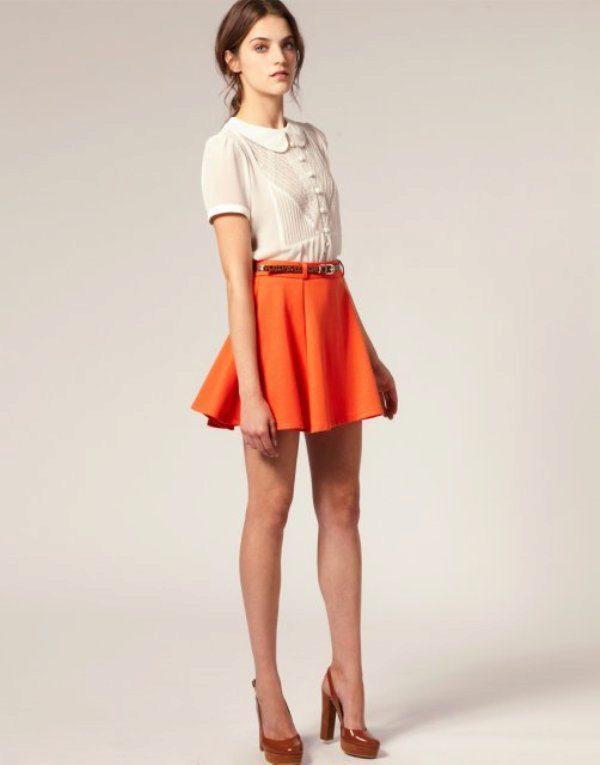 Прямая юбка различных фасонов. 160 фотографий