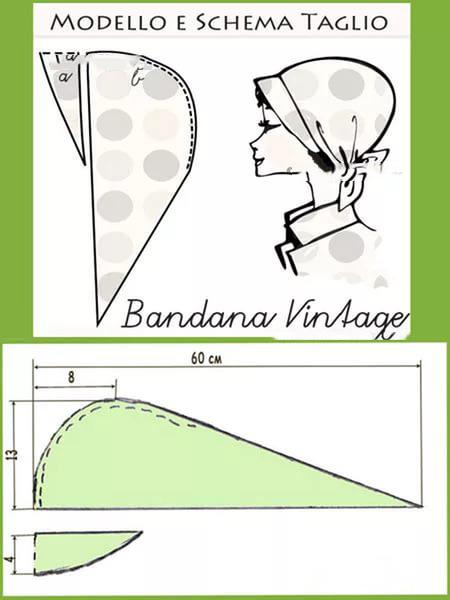 Как сшить платок бандану своими руками