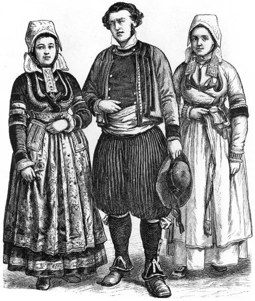 06f1f80cbdf5 Французские крестьяне изготавливали свою одежду из холста, шерсти, сукна с  использованием хлопчатобумажной нитки. В годы окончания Великой французской  ...