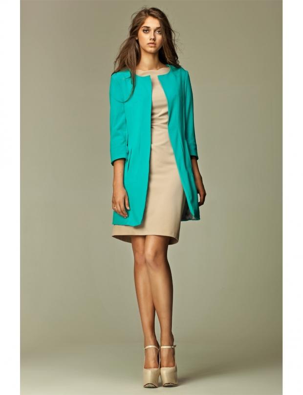 Удлиненный пиджак с платьем