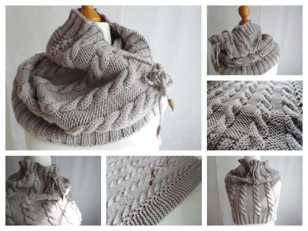 вязание шарфов снудов манишек спицами