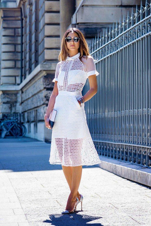 маленькое белое платье на лето