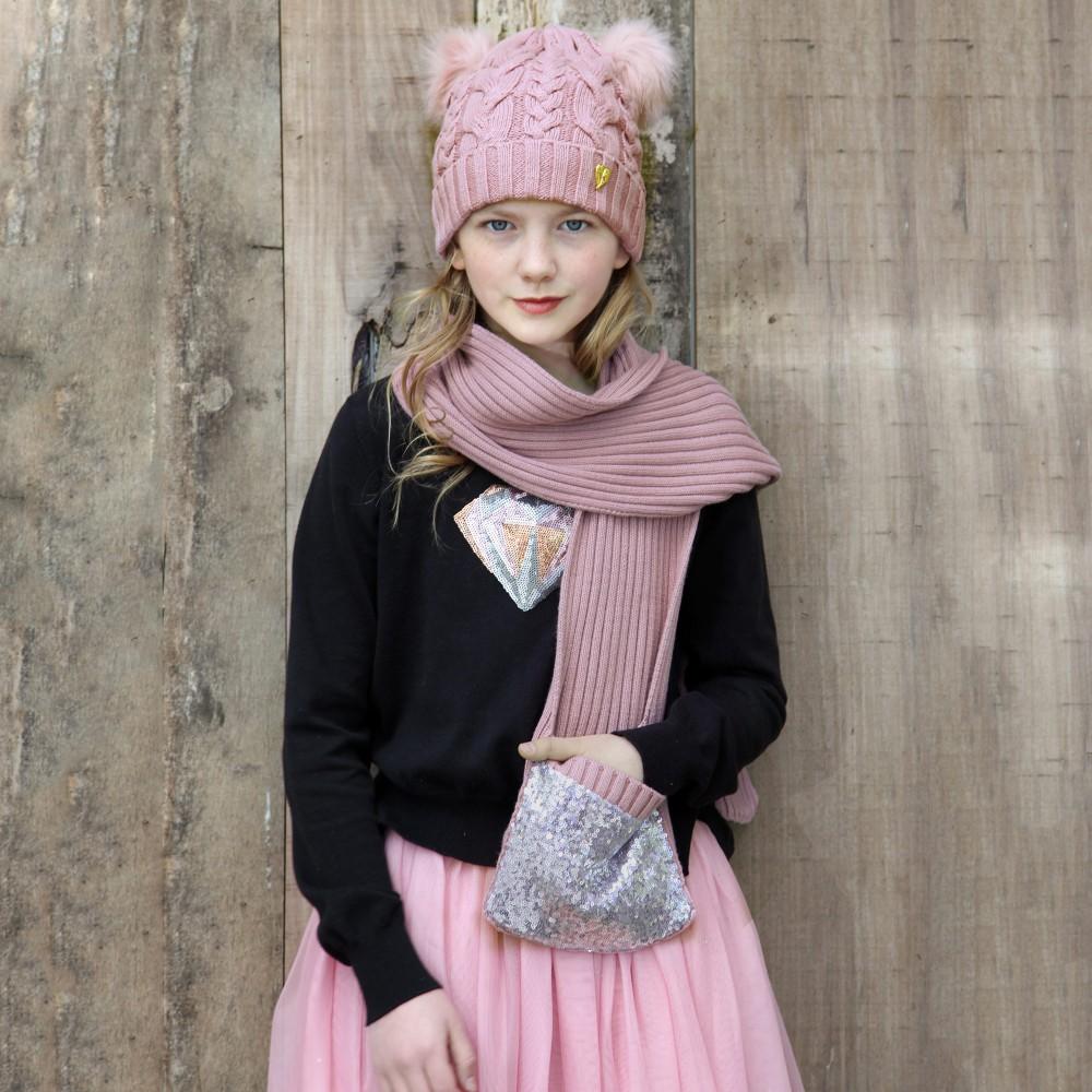 Вязаный шарф для девочки (28 фото): детские модели, как ...