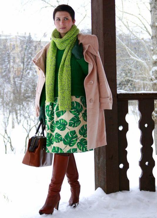 Легкий шарфик к платью