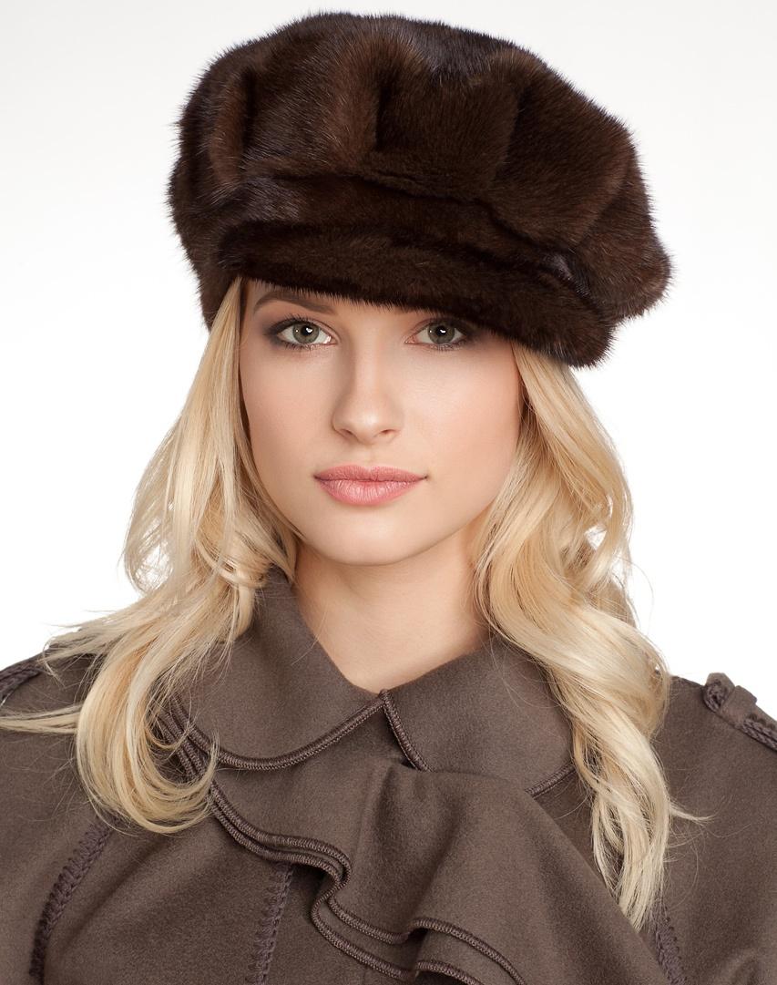 Модные зимние шапки женские из меха 2017
