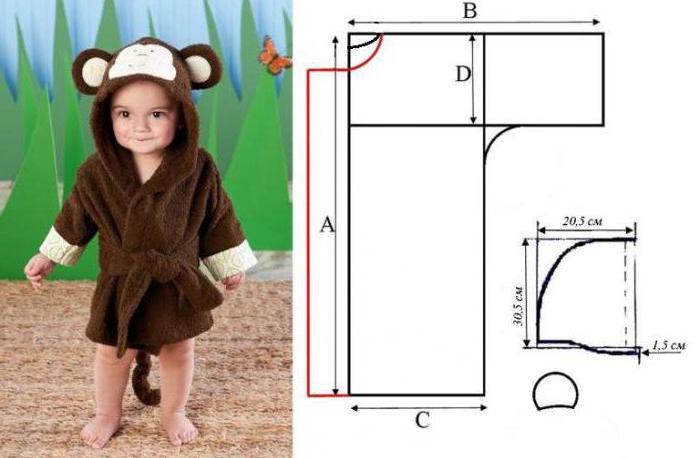Сшить халат для мальчика