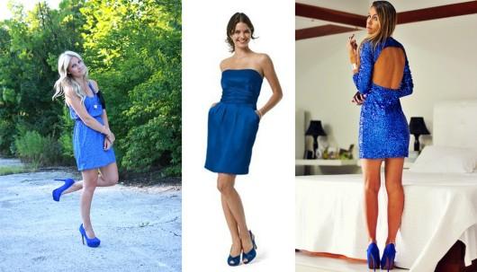 Обувь под синее платье