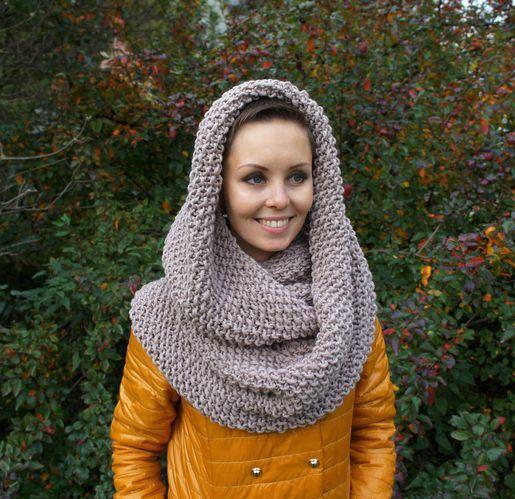 Как связать шарф хомут или снуд