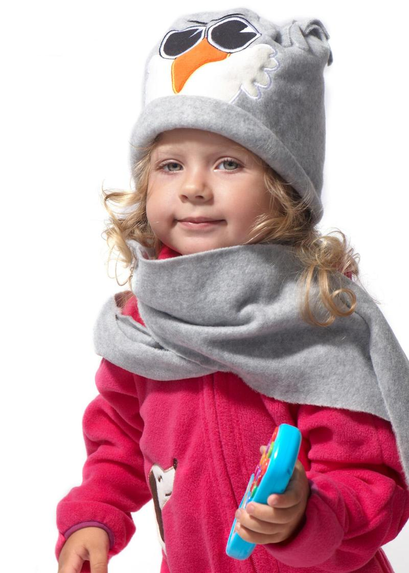 Шапка из флиса для детей фото