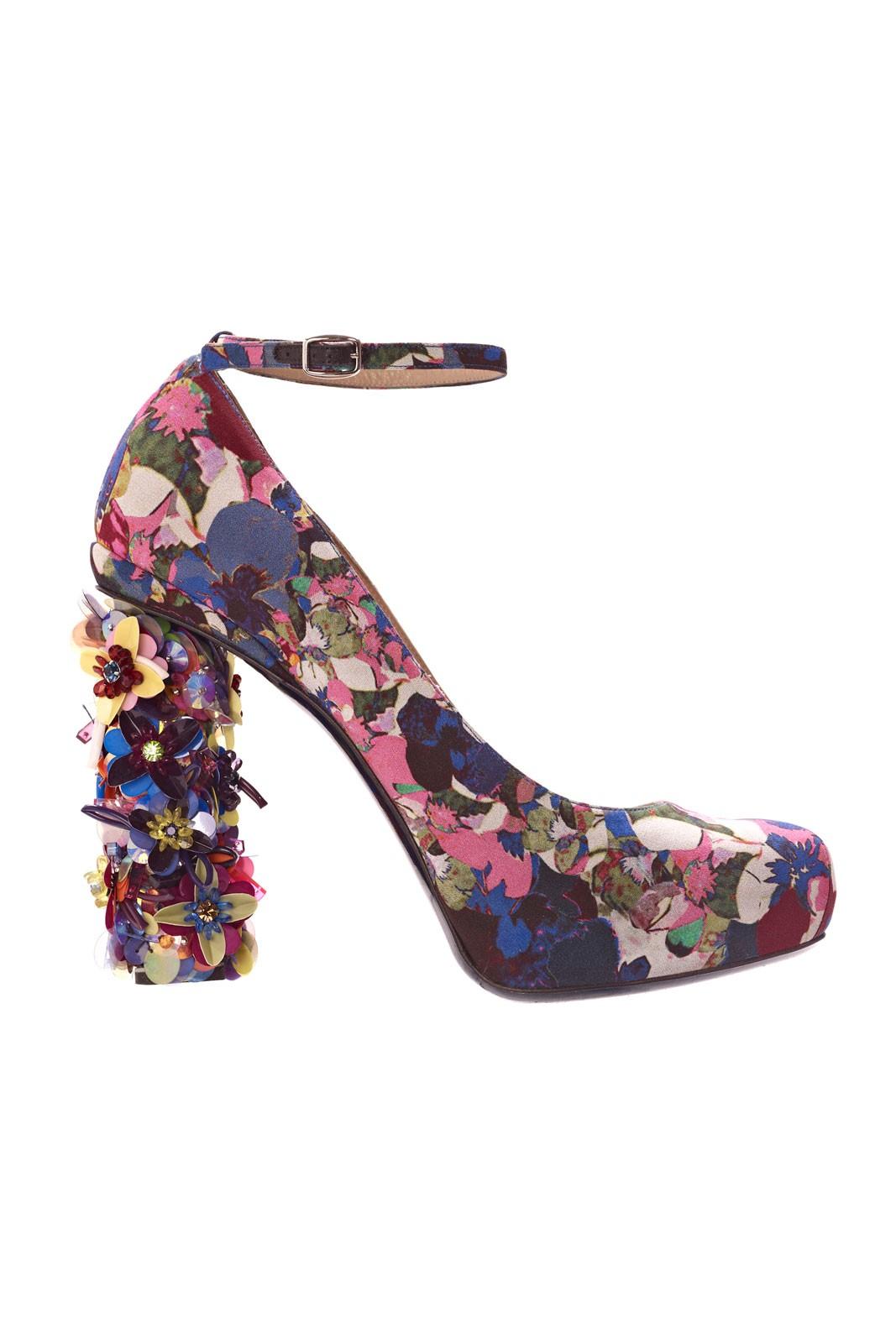 Туфли с цветами вышивка